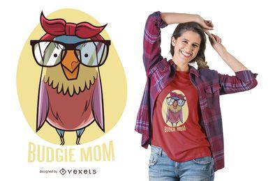 Projeto do t-shirt da mamã do pássaro