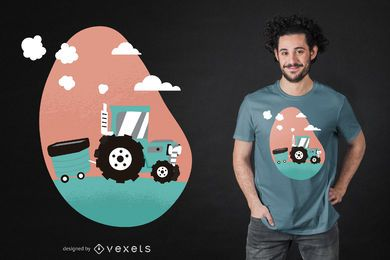 Farm Tractor T-shirt Design