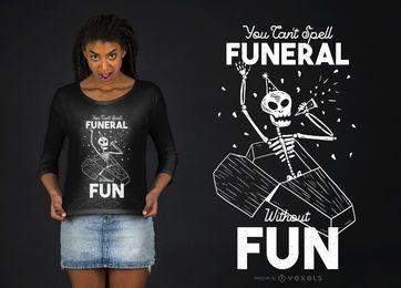 Diseño de camiseta de esqueleto divertido