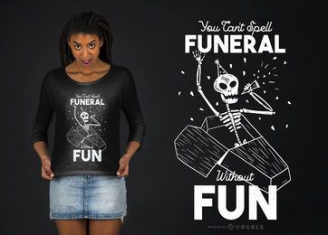 Lustiger Skeleton T-Shirt Entwurf