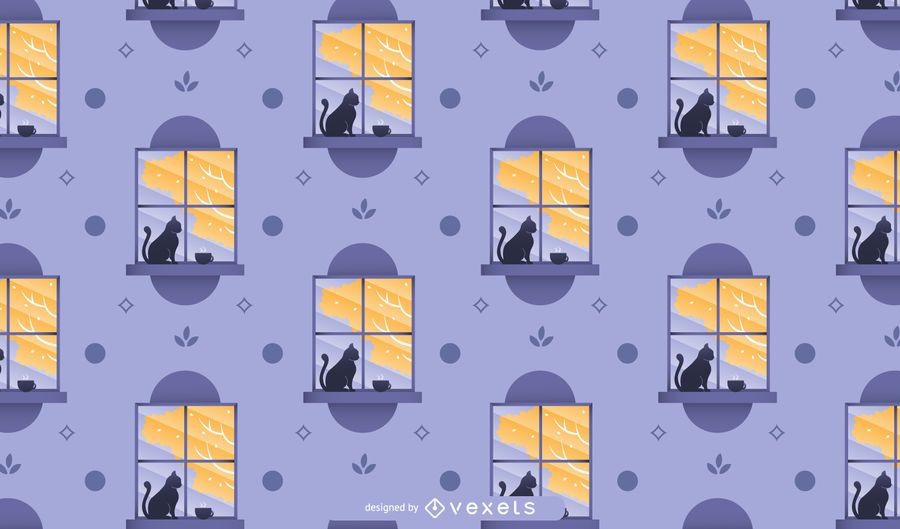Autumn window pattern design