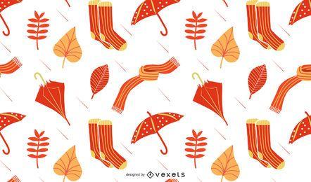 Herbst Regen Musterdesign