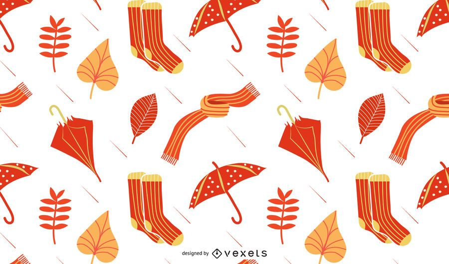 Autumn rain pattern design