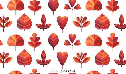 Patrón de hojas de otoño transparente