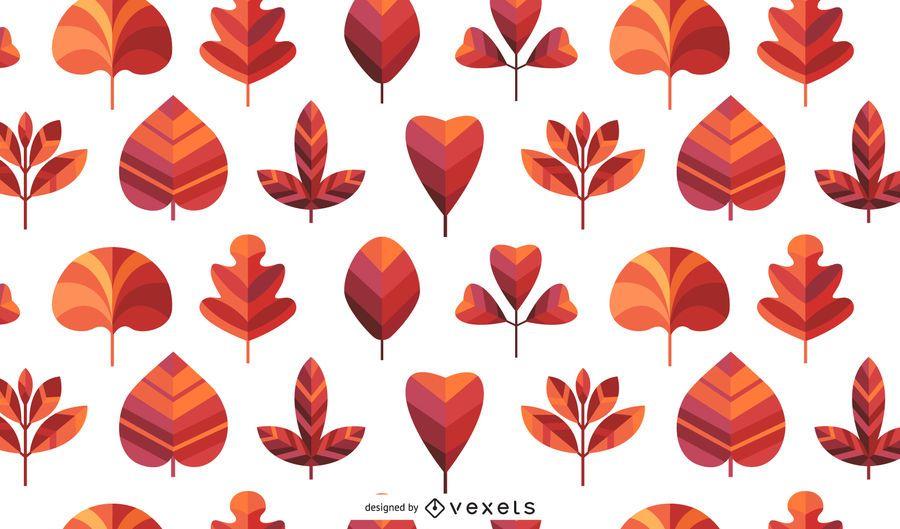 Patrón de hojas de otoño sin costuras