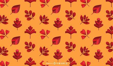 Orange Autumn Leaves Pattern