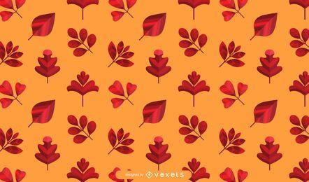 Patrón de hojas de otoño naranja