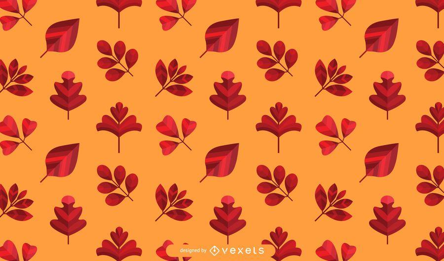 Orange Autumn Leaves Pattern