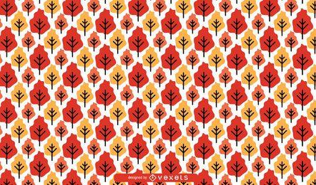 Padrão de árvores de outono sem emenda