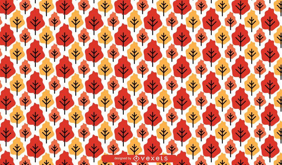 Patrón de árboles de otoño inconsútil