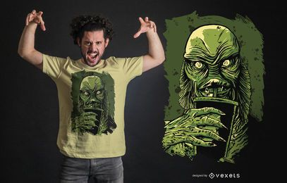 Black Lagoon Creature T-shirt Design