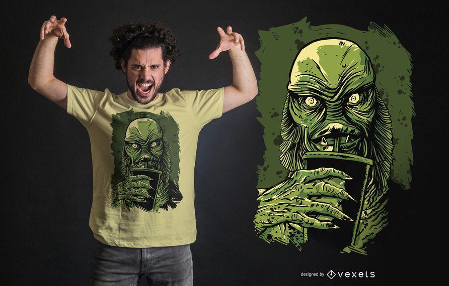 Diseño de camiseta de Black Lagoon Creature