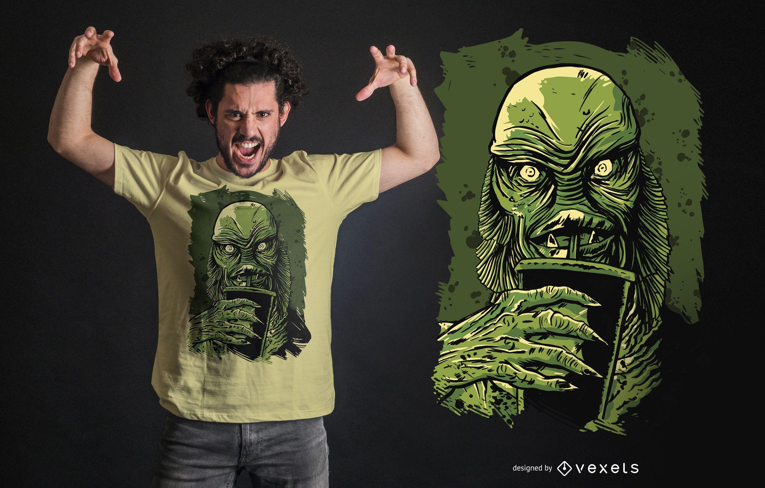 Design de camiseta da Black Lagoon Creature