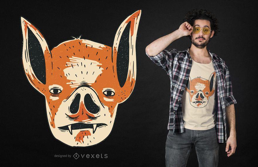 Diseño de camiseta de vampiro extraño