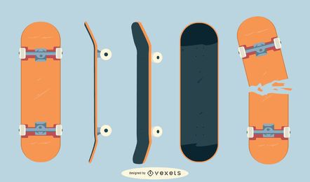 Skateboard Flat Design Collection
