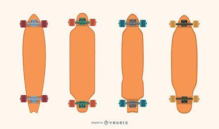 Blank Longboard Vector Pack