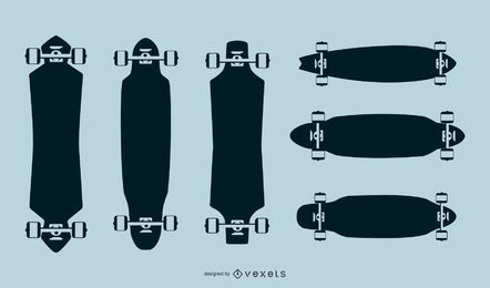 Pack de siluetas de longboard