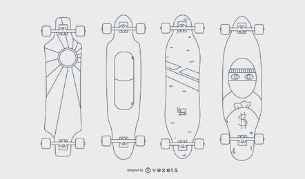 Longboards line set