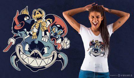 Halloween-Freund-T-Shirt Entwurf