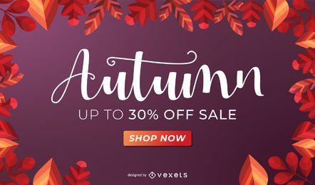 Design de banner de venda de outono