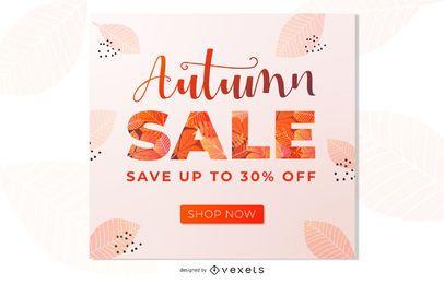 Design de banner de promoção de venda de outono