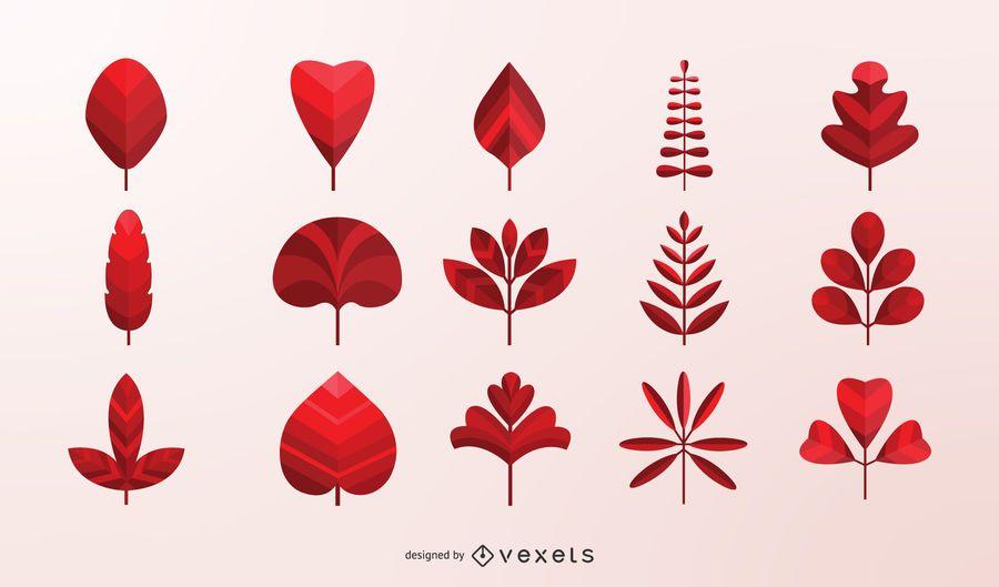 Colección de vectores de hojas de otoño