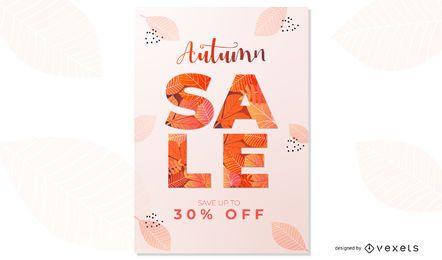 Design de cartaz de venda de outono