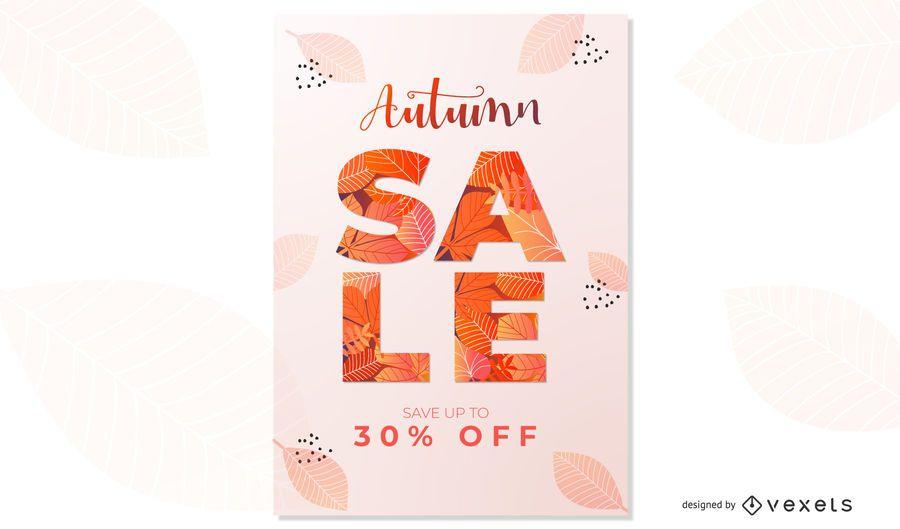 Design de cartaz de outono venda