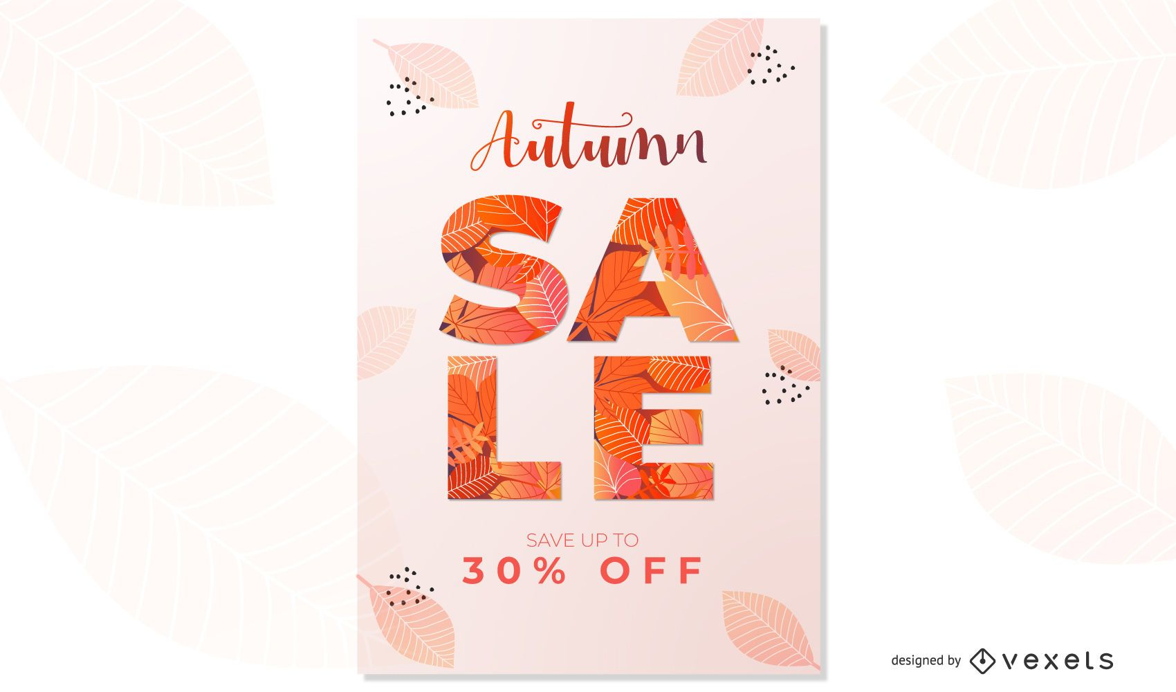 Autumn Sale Poster Design