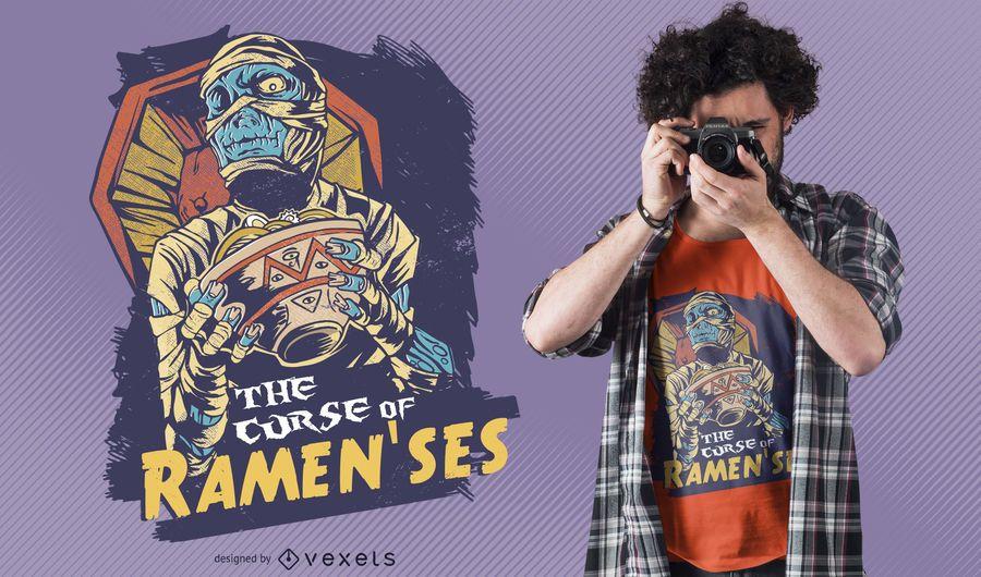 Diseño de camiseta Momia Ramenses
