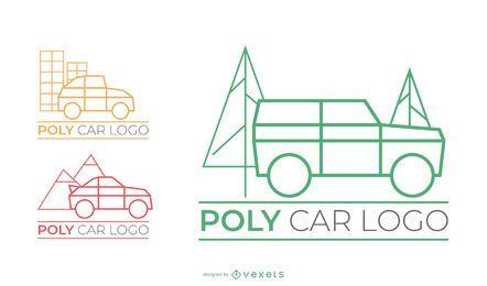 Conjunto de logotipo de Poly Car