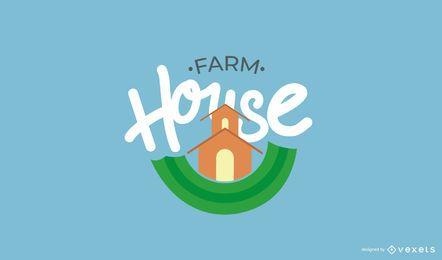 Conjunto de plantillas de logotipo de granja