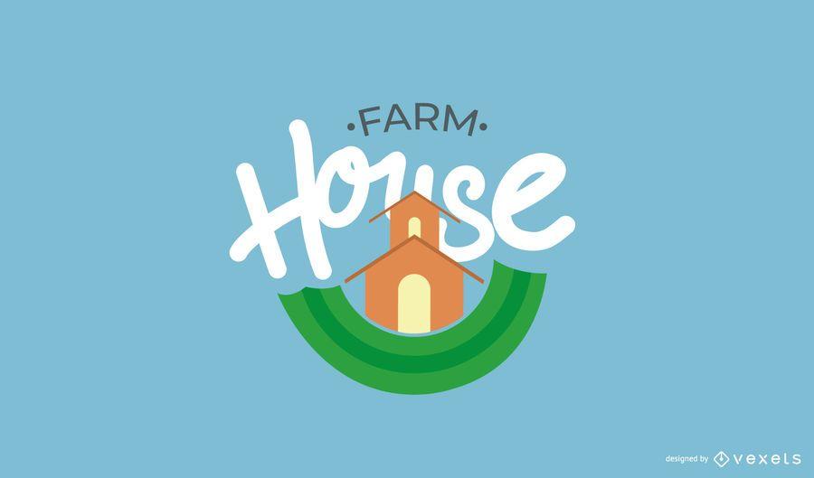 Bauernhof Logo Vorlagensatz