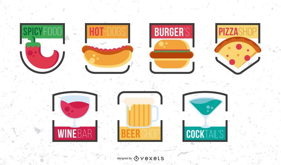 Fast Food Logo Design Set