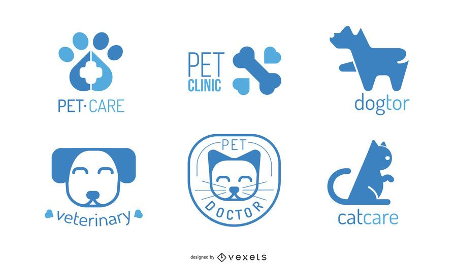 Veterinary Logo Design Set