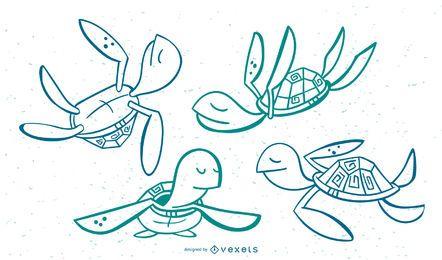 Conjunto Stoke con estilo tortuga