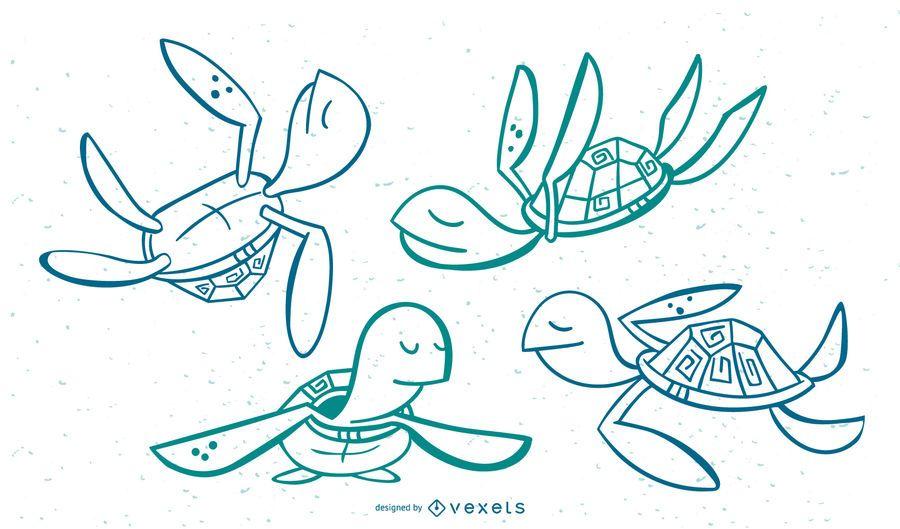 Turtle Stylish Stoke Set