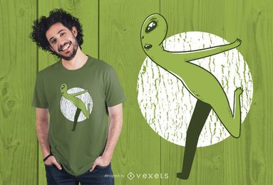Diseño de camiseta Alien Running