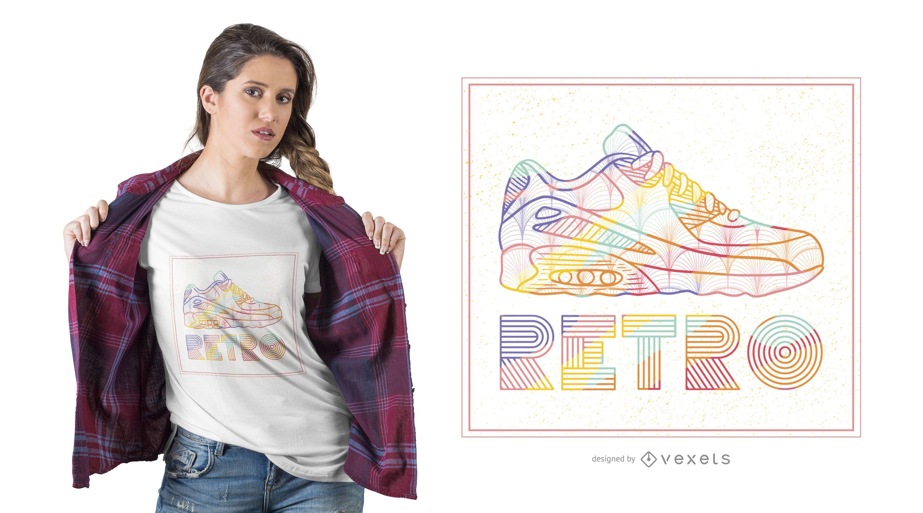 Retro Shoe T-shirt Design