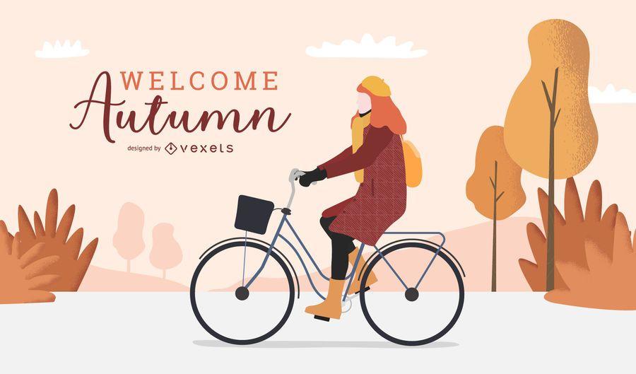 Bienvenido otoño diseño de fondo