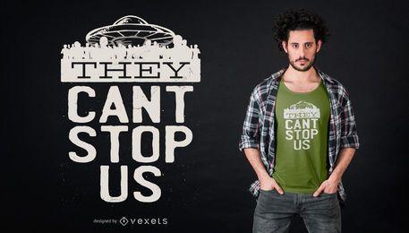 Projeto engraçado do t-shirt da área 51