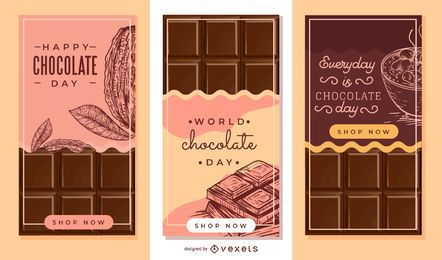 Chocolate bar banner set