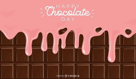 Fondo del día del chocolate