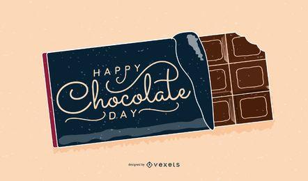 Schokoladen-Tagesstab-Entwurf