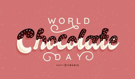 Bandera del día mundial del chocolate