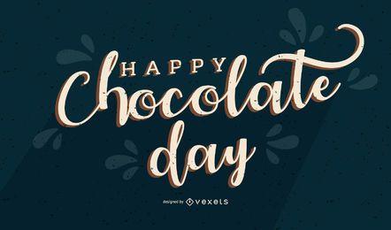 Glücklicher Schokoladen-Tagesfahne