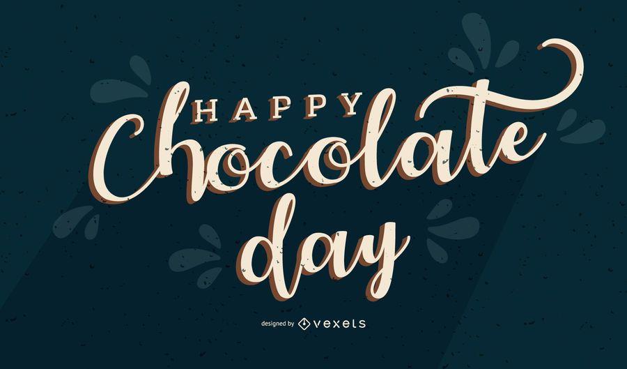 Banner feliz día del chocolate
