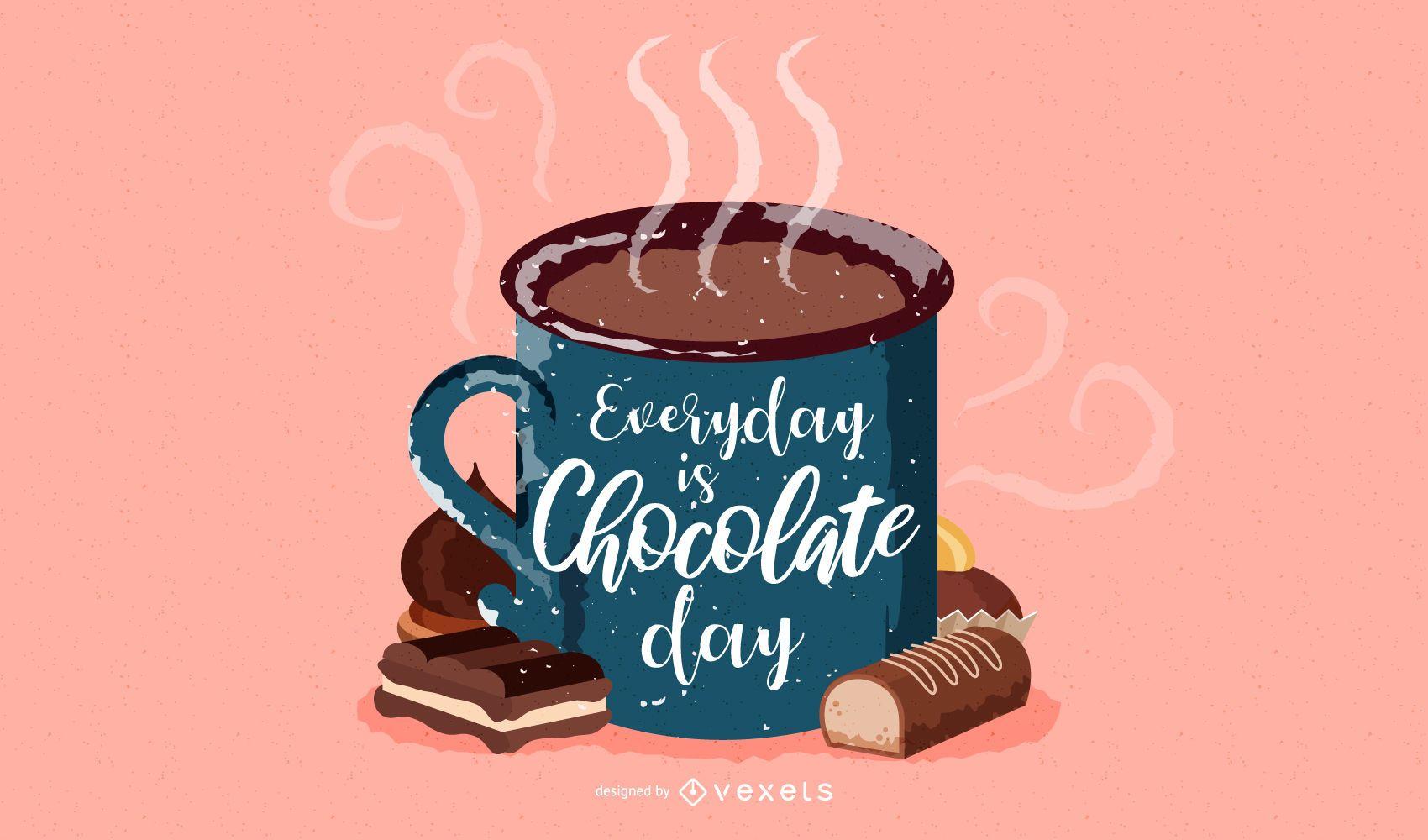 Fondo de pantalla de taza de chocolate caliente