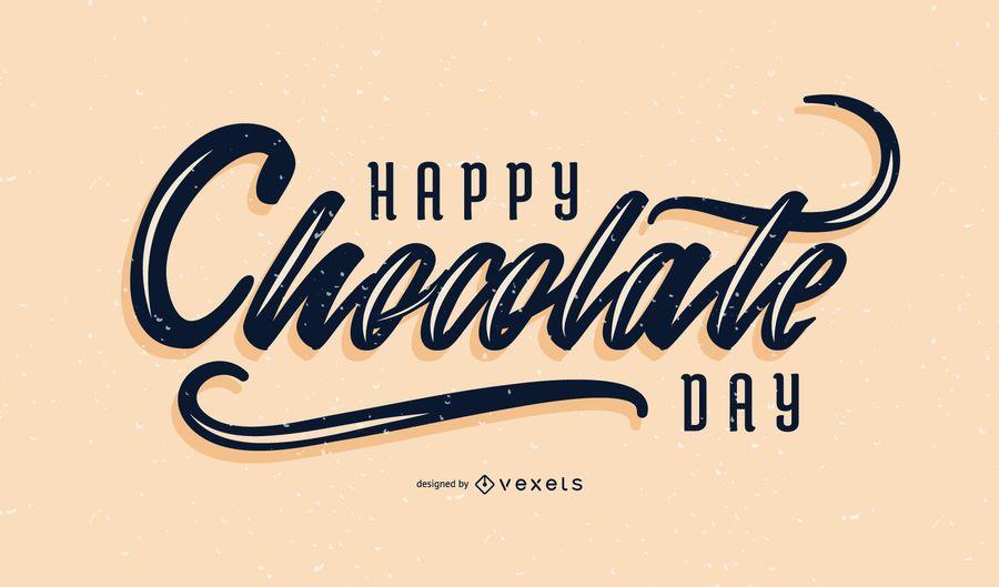 Letras de chocolate dia