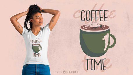 Design de t-shirt da hora do café